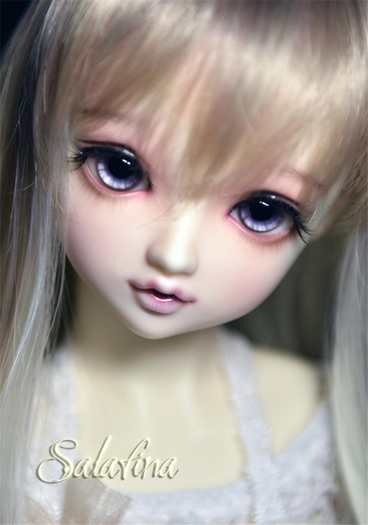 ガラスアイ SD BJD ドール用ガラスアイ「灰紫」三白眼 アイリス 141618mm製品図3