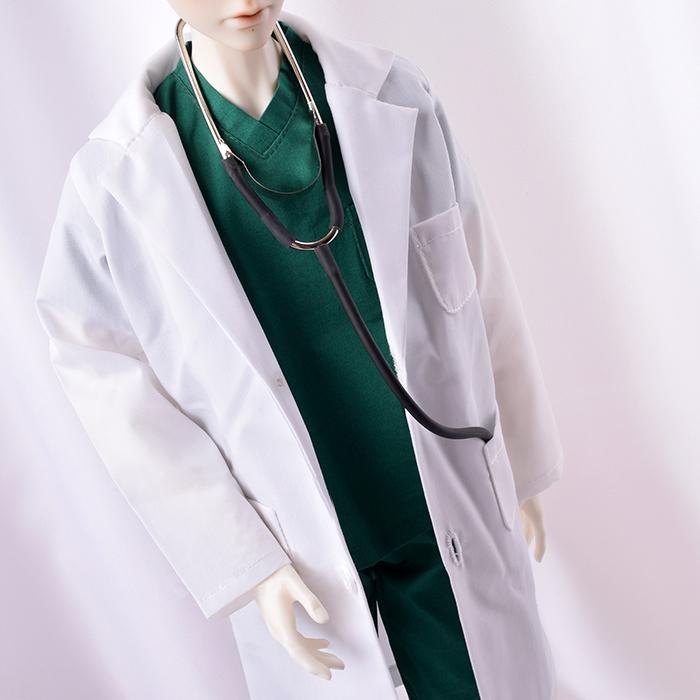 ドール衣装 白衣セット BJD衣装 1/3/1/4サイズ製品図1